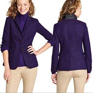 J.Crew Wool Herringbone Hacking Jacket Dark Purple